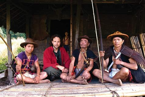 In 1998, author/adventurer Ian Baker (second from left) led a National Geographic-sponsored expedition into the Tsangpo River gorges in search of a hidden waterfall that Tibetans believe is a portal to an earthly paradise.