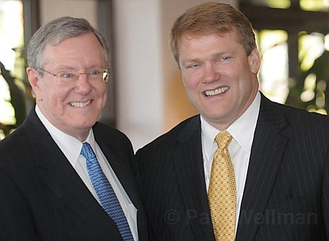 Steve Forbes (L) with Westmont's Eighth President Gayle D. Beebe