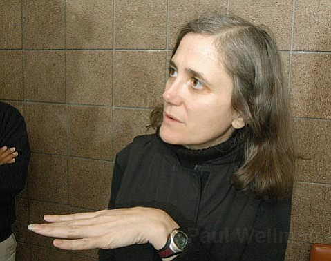Amy Goodman at Campbell Hall in 2004