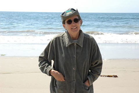 Barbara Hirsch, recording engineer for the UCSB Music Library, sustainability change agent, and author of Ecofacts.