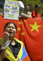 Kalsang Dolma protests treatment by Chinese government.