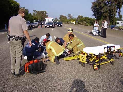 Goleta Man Breaks Leg in 101 Motorbike Accident