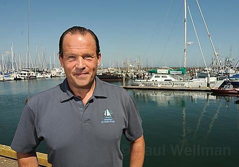Robert Swan at the Santa Barbara Harbor on Sunday, May 18th with the SV 2041 vessel.