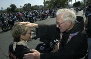 Father Virgil Blessing the Bikes 2003