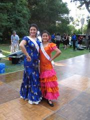 2008's Spirit of Fiesta Jessica Marquez (left) and Junior Spirit Ashley Almada