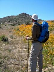 Glen Van Peski models his lightest pack to date, the Murmur, which weighs in a 7.2 ounces.