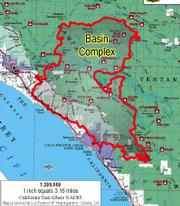 Close view of recent fire map shows boundaries of the fire on June 27.