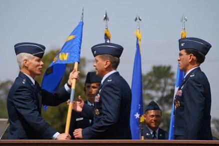 Left to right: Lieutenant General William Shelton, Colonel David Buck, Colonel Steve Tanous.