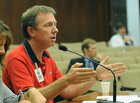 Michael Harris with Santa Barbara County Office of Emergency Services discusses the Gap fire with County board of Supervisors (July, 2008).