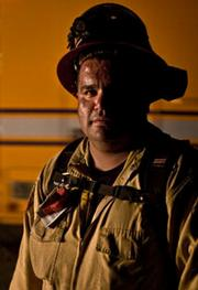 Captain George Nunez, from Valyermo, CA, who manages a team of inmate firefighters.
