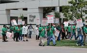 On Monday, July 14, AFSCME union members were striking on the UCSB campus.