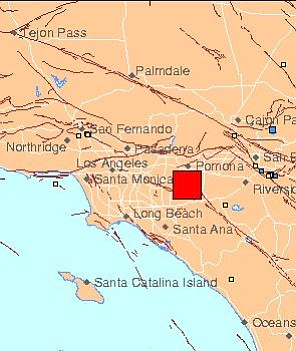 A USGS map of the July 29 quake.