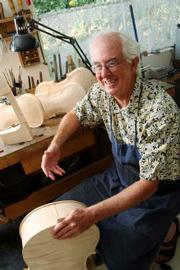 James Wimmer in his studio with the Schwyzer Quartet.