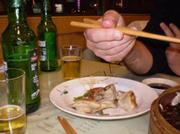 Dumplings and TsingTao.
