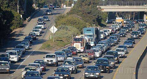 """Slow going:  If Measure A fails, supporters say there's no way to address chronic congestion; critics claim it only """"enables"""" the automobile."""