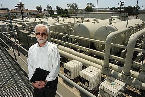 City Water Planner Bill Ferguson at Santa Barbara's dormant water desalination plant.
