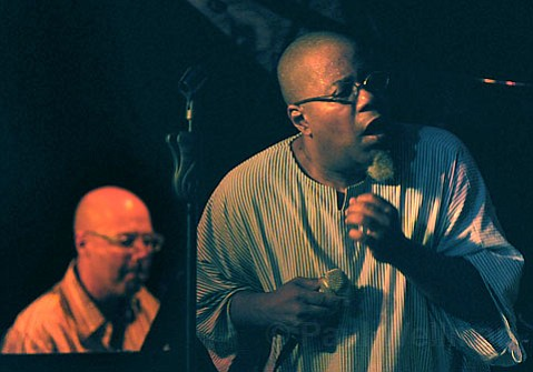 Dwight Trible brought his unique, compelling, and at times improvisational jazz vocals to SOhO last Wednesday night.