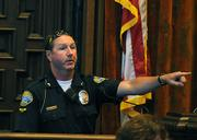 Officer Mark Hunt identifies the defendant in the courtroom