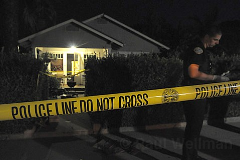 Police investigate a stabbing at 1827 San Andres street Sunday August 17