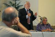 Montecito Board President Dick Shaikewitz center and director Jan Abel