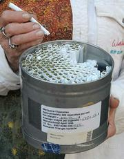 A month's supply of marijuana cigarettes (approximately 300) provided by the federal government.