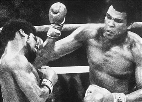 Boxer Muhammad Ali defeats Leon Spinks at the Louisiana Superdome in New Orleans to win the world heavyweight boxing title for the third time in his career, the first fighter ever to do so.