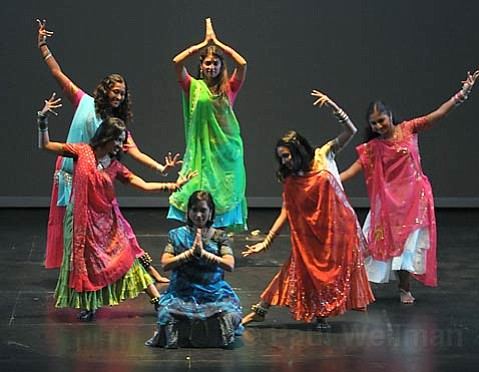 """The East India Dance Company fused modern movement and classical Indian dance in its Bollywood-style """"Aaja Nachle."""""""