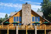 Main lodge at Hidden Meadow Ranch in the White Mountains of Arizona.