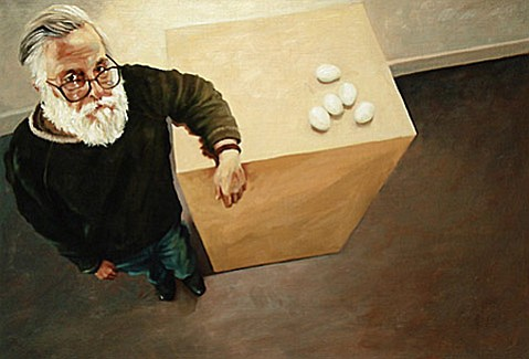 "Jack Smith's ""Portrait of Ken Price with Eggs"" (2008)."
