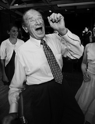 Mr. David Serbin (88 years young) dances.