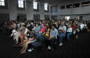 Attendees filled the Corwin Pavillion at UC Santa Barbara to hear Ralph Nader and Matt Gonzalez