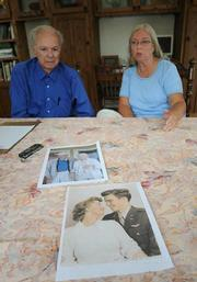 Terry Scrivner brought out photos of the couple.