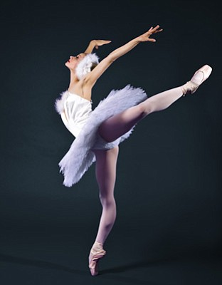 Victoria Luchkina as Odette, the Swan Princess, in State Street Ballet's Swan Lake.