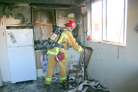 A cooking fire resulted in the destruction of a kitchen in an Isla Vista apartment on Wednesday, October 8.