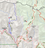 Maps displays the Cold Springs trail network.
