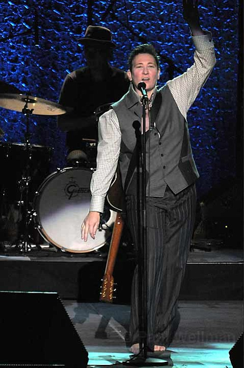 k.d. lang returned to the Arlington Theatre on Saturday night, performing a collection of country, pop, and standards that spanned her career.