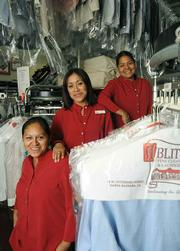 From Left: Margarita, Jenny, and Maribel keep your clothes spiffy at Ablitt's.