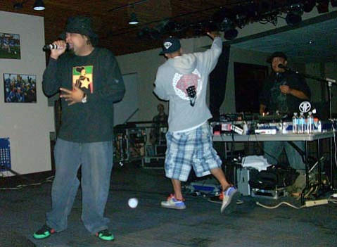 Dilated Peoples' Rakaa Iriscience and Evidence pumped up the crowd during their performance last Friday at UCSB.