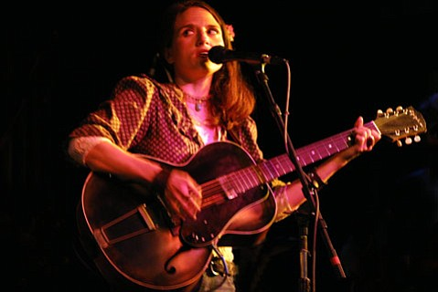 Jolie Holland delivered a set of upbeat, stripped-down, and emotional tunes at SOhO last Tuesday night.