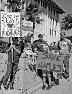 Save Naples rally.