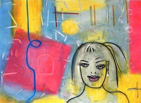 """Celebration,"" acrylic on Magnani Pescia paper, 22 x 30 "", 2008"