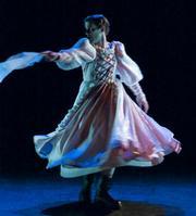Casey Caldwell as Desdemona in Abadjieva's <em>Othello</em>.