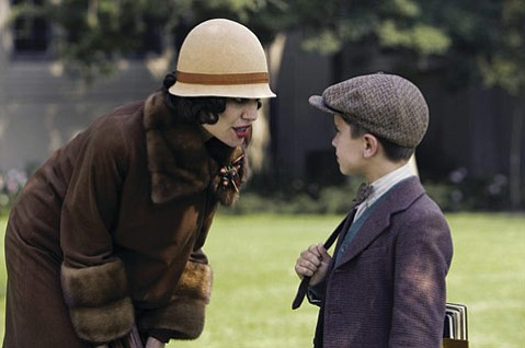 Angelina Jolie as Christine Collins and Gattlin Griffith as Walter Collins in <em>Changeling</em>.