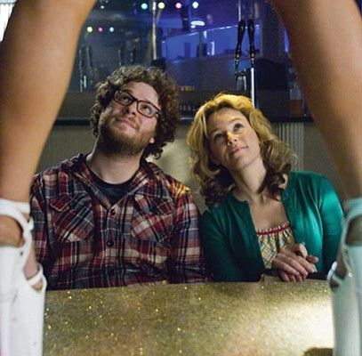 Seth Rogen, Elizabeth Banks, raunch, and poop star in <em>Zack and Miri Make a Porno</em>.