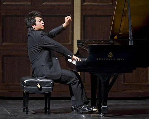Superstar prodigy Lang Lang has played Santa Barbara several times before, including a recital at Campbell Hall in 2003. Here he is seen onstage at the Granada on Tuesday, October 28.