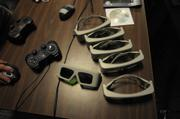 To see the 'Sphere's 3-d imagery, users must don a pair of glasses (center) that cost upward of $400 per pair.