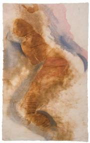 """Among Mary Heebner's paintings in <em>Intimacies</em> is this nude, which accompanies Neruda's poem, """"Sweetness, Always."""""""