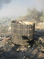 Purportedly the first-ever hot tub and an icon of the Mountain Drive community also suffered the wrath of the Tea Fire.