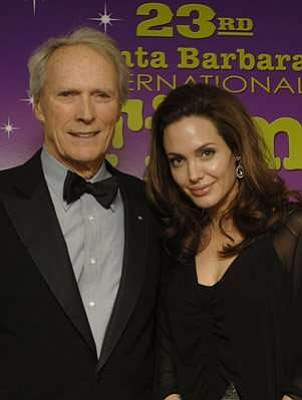 Eastwood and Angelina Jolie at 23rd Santa Barbara Film Fest