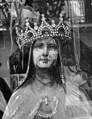 Madonna with a rhinestone crown.